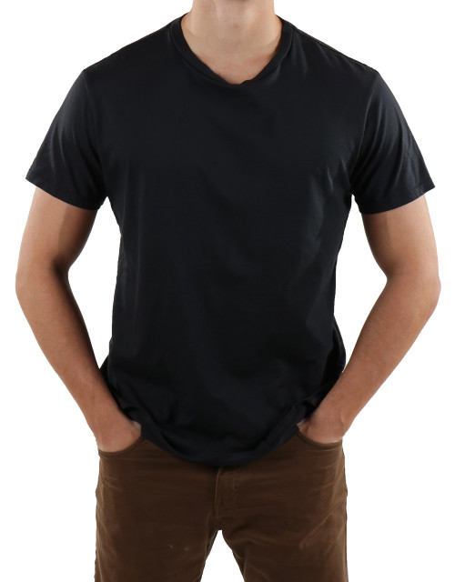 Mens-Crew-Neck-T-Shirt-Black