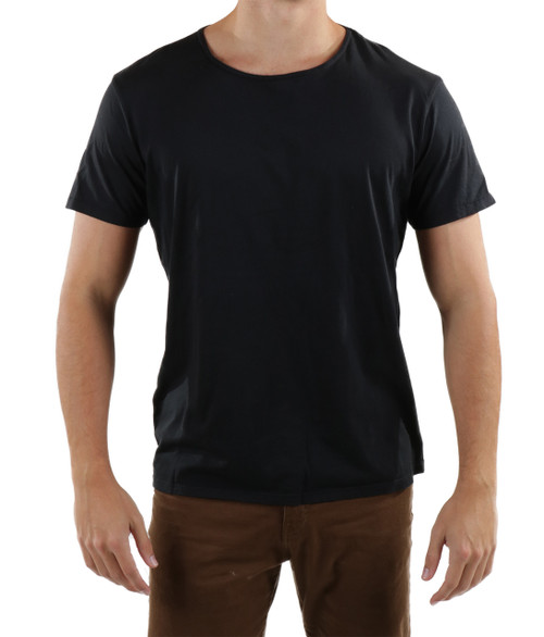 Men's High Quality t-shirt - Organic Supima Cotton - Black - zoomed