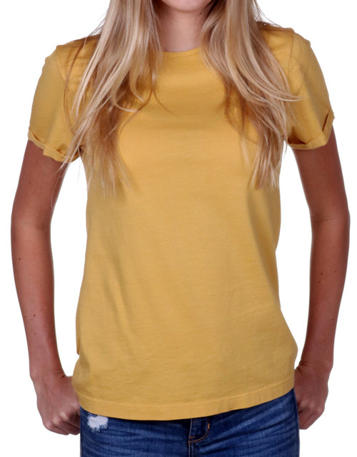 Women's Yellow T-shirt  - Supima Cotton