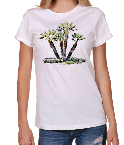 High Quality T-shirts - Women's t-shirt, white, Boyfriend t-shirt - Oasis-zoomed
