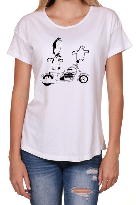 Crazy Penguin womens t-shirt