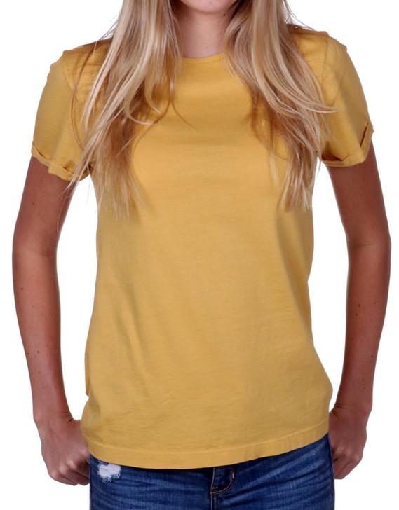 Women's Yellow T-shirt  - Supima Cotton