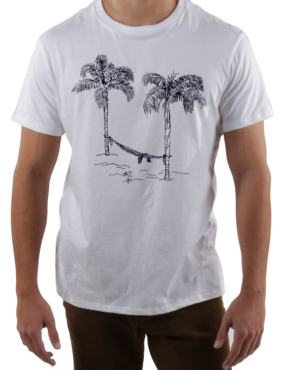 Hammock on the Beach  Mens Crew T-Shirt