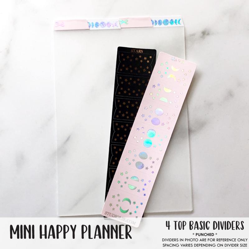 Mini Happy Planner Basic *TOP* Dividers