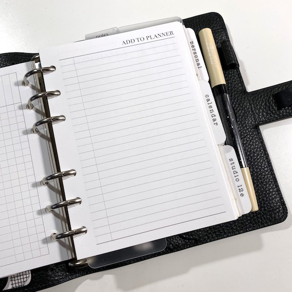 Add to planner inbox free printable inserts