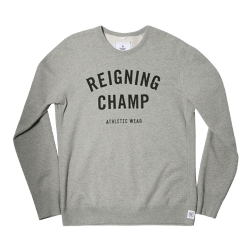 REIGINING CHAMP MID WT TERRY GYM LOGO CREW NECK