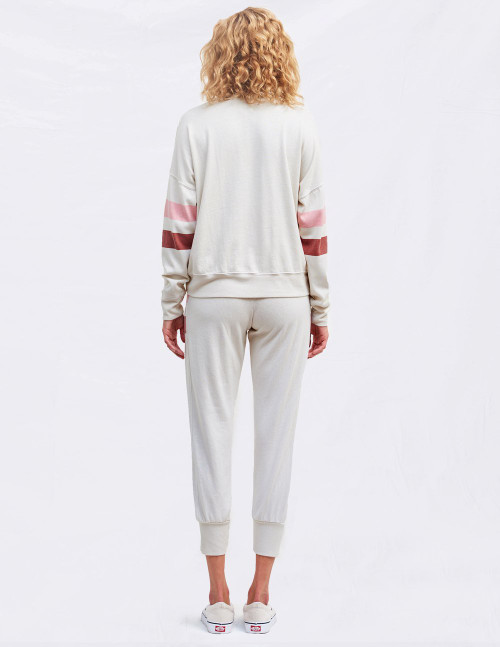 SUNDRY OVERSIZED SWEATSHIRT WITH BOLD STRIPES