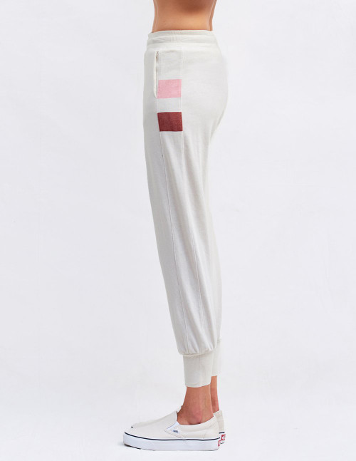 SUNDRY TAPERED SWEATPANT WITH INSET AND BOLD STRIPES