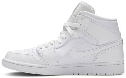 "NIKE AIR JORDAN 1 RETRO MID ""ALL WHITE"""