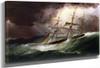 Schooner In Stormy Seas By James E. Buttersworth
