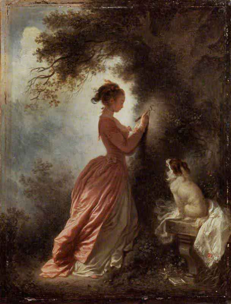 The Souvenir By Jean Honore Fragonard