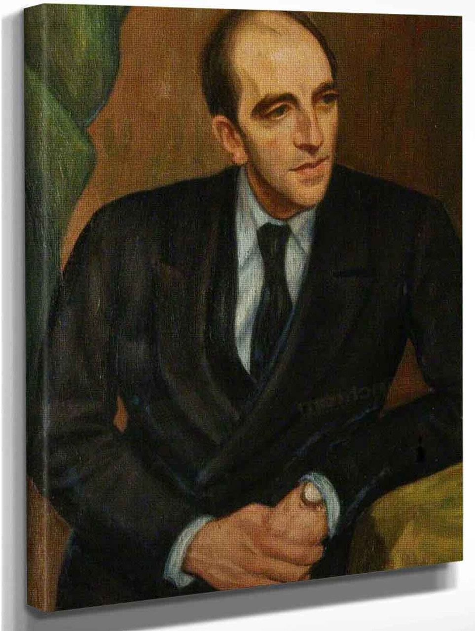 Portrait Of John Nicolas Mavrogordato By Mark Gertler Art Reproduction