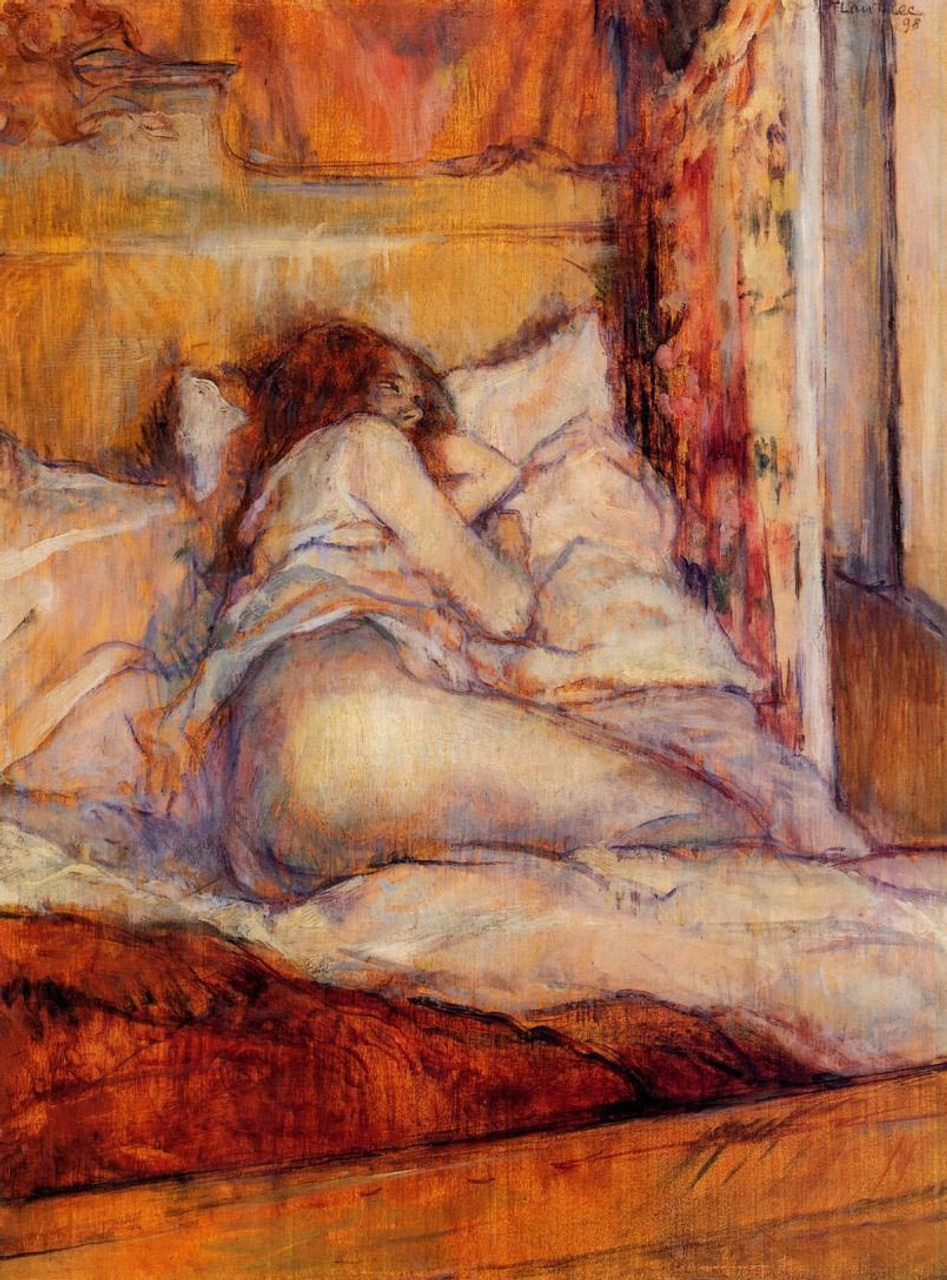 The Bed By Henri De Toulouse Lautrec Art Reproduction From Cutler Miles