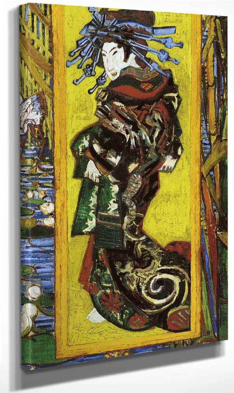 Japonaiserie Oiran By Vincent Van Gogh Print Or Painting Reproduction