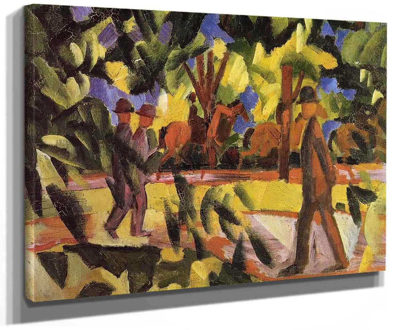Man with a donkey by August Macke Giclee Fine ArtPrint Reproduction on Canvas