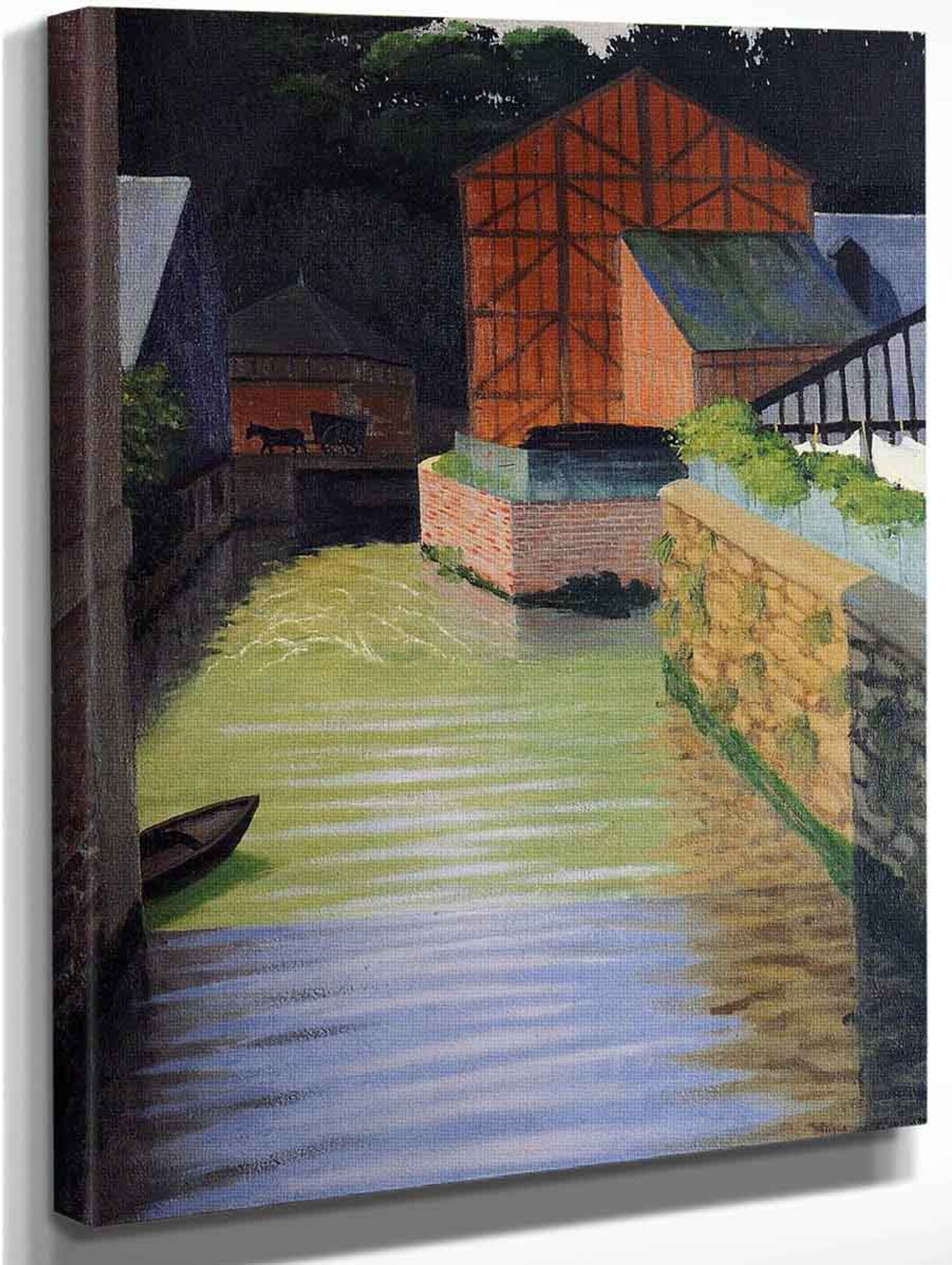 Part Of The Town Of Pont Audemer By Felix Vallotton
