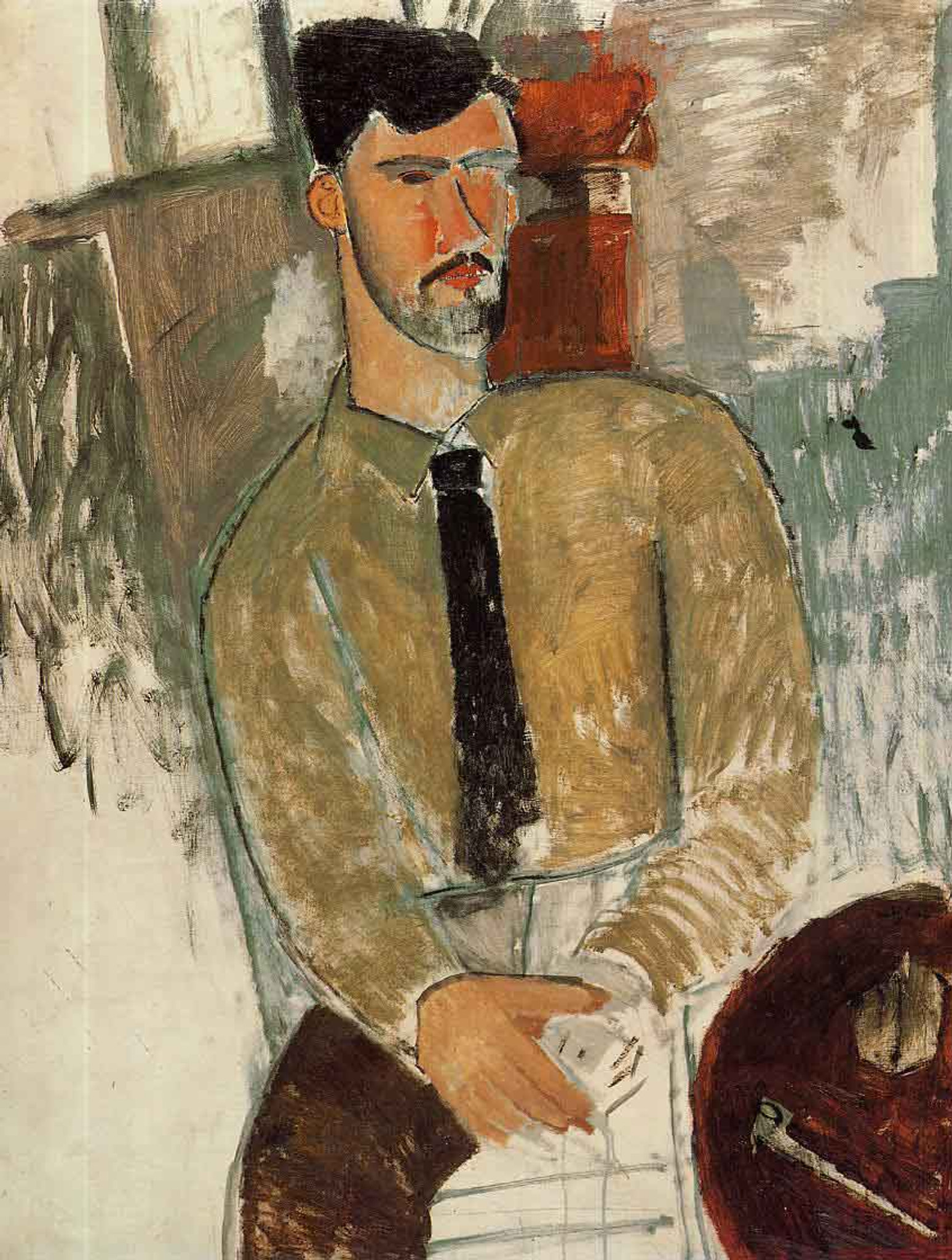 Portrait Of Henri Laurens By Amedeo Modigliani Art Reproduction from Cutler  Miles.