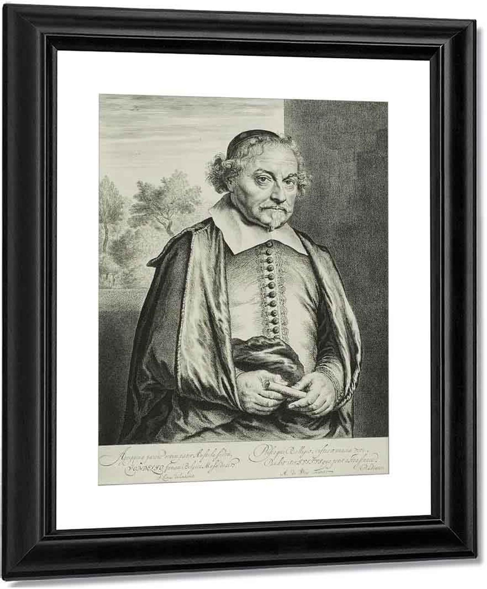 Portrait Of Joost Van Den Vondel By Jan Lievens The Elder