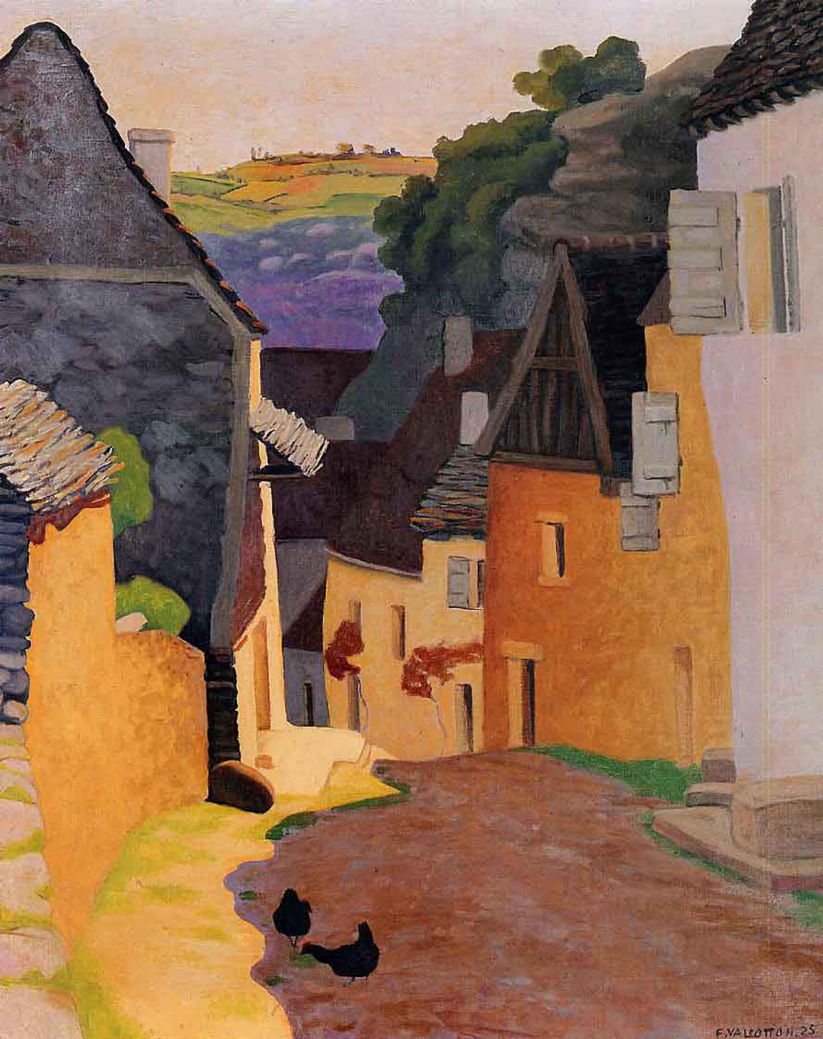 Rocamadour Landscape By Felix Vallotton Oil on Canvas Reproduction