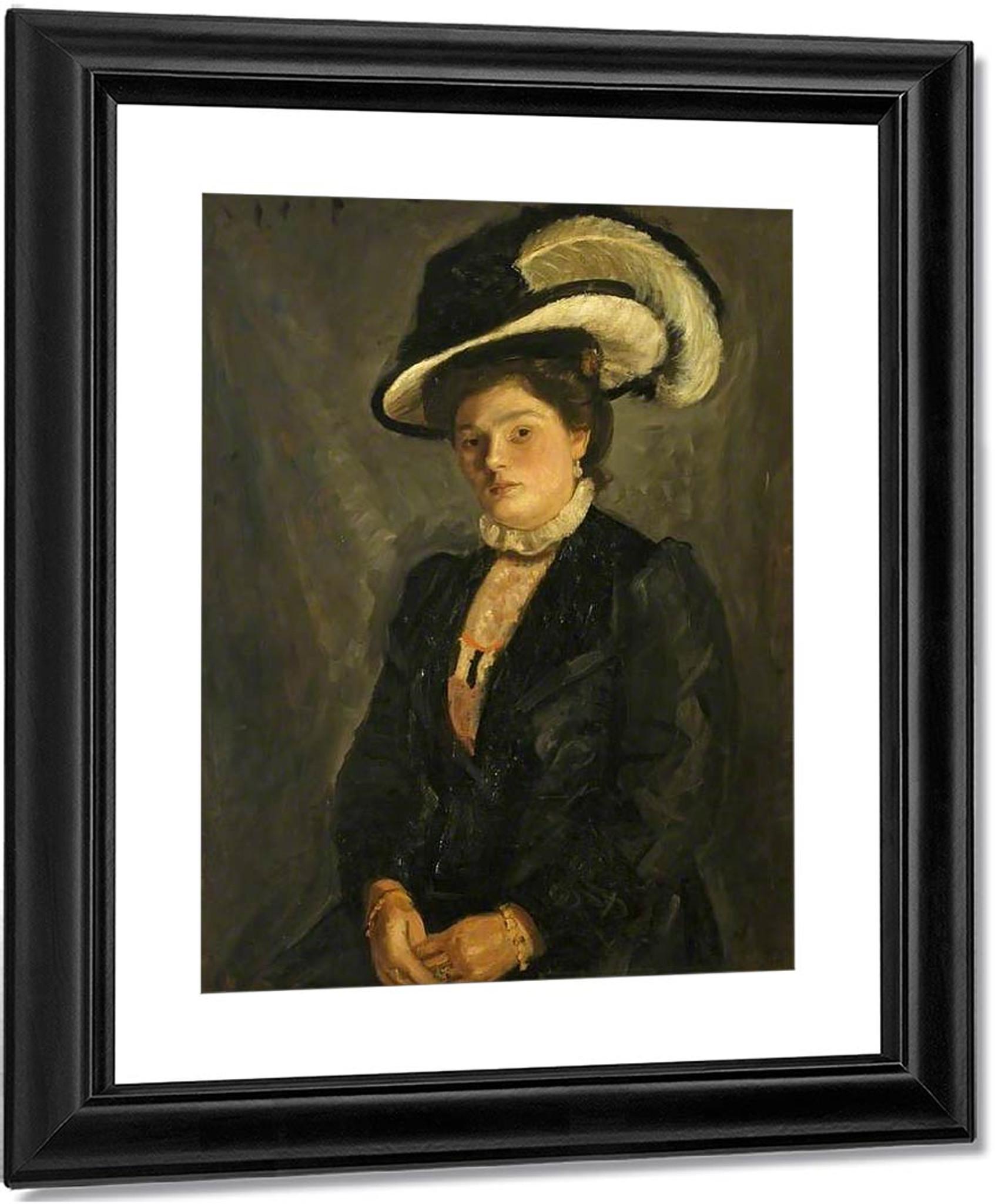 The Artist's Sister, Deborah By Mark Gertler Oil on Canvas Reproduction