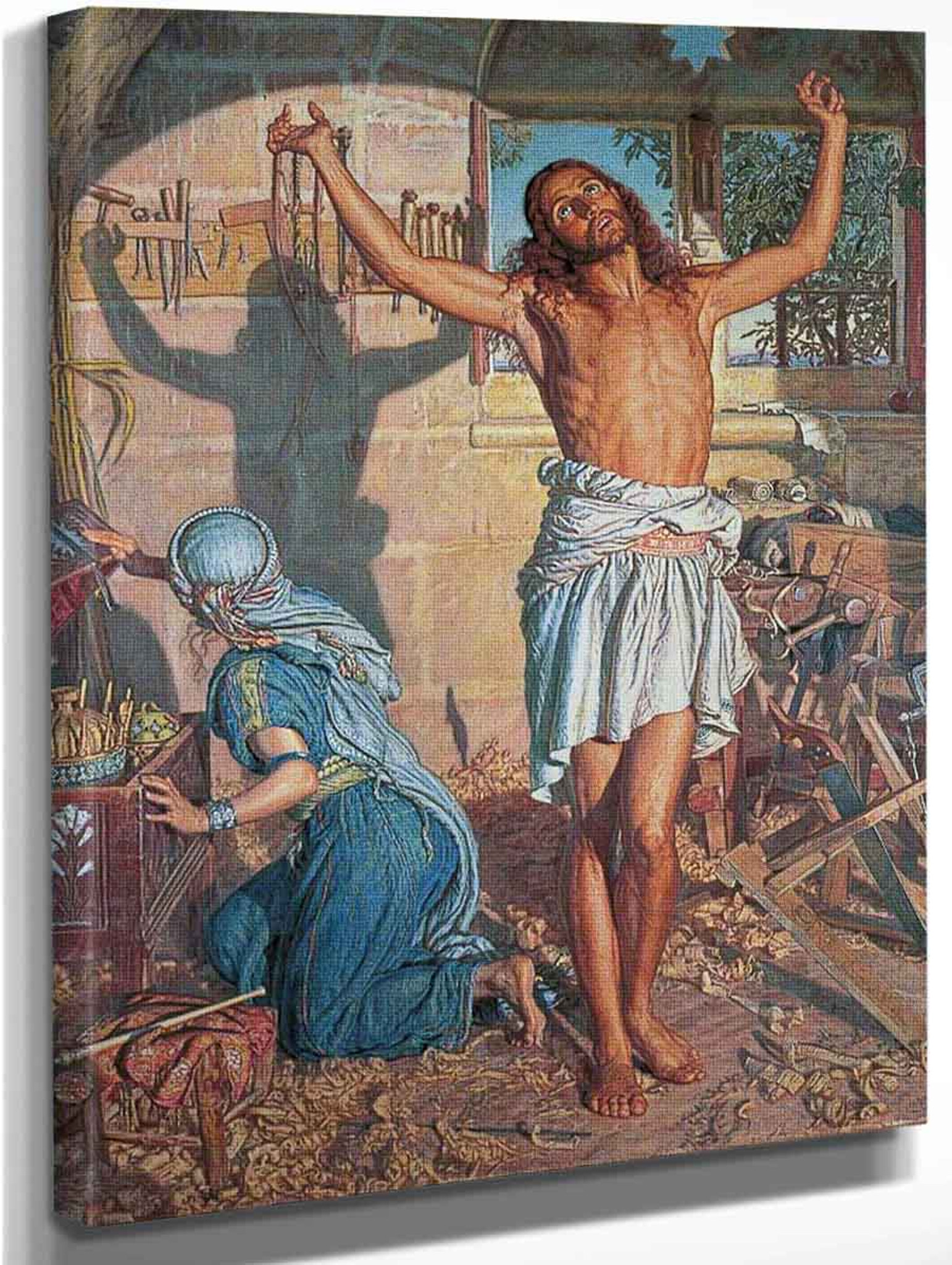 The Shadow of Death    by William Holman Hunt  Giclee Canvas Print Repro