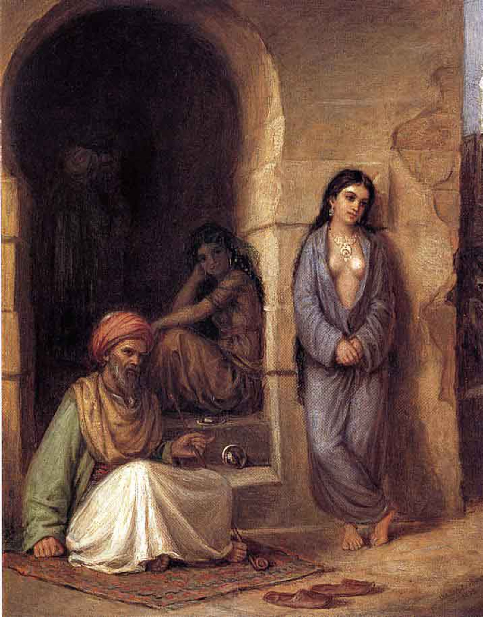 The Slave By John William Waterhouse Art Reproduction from Cutler Miles.