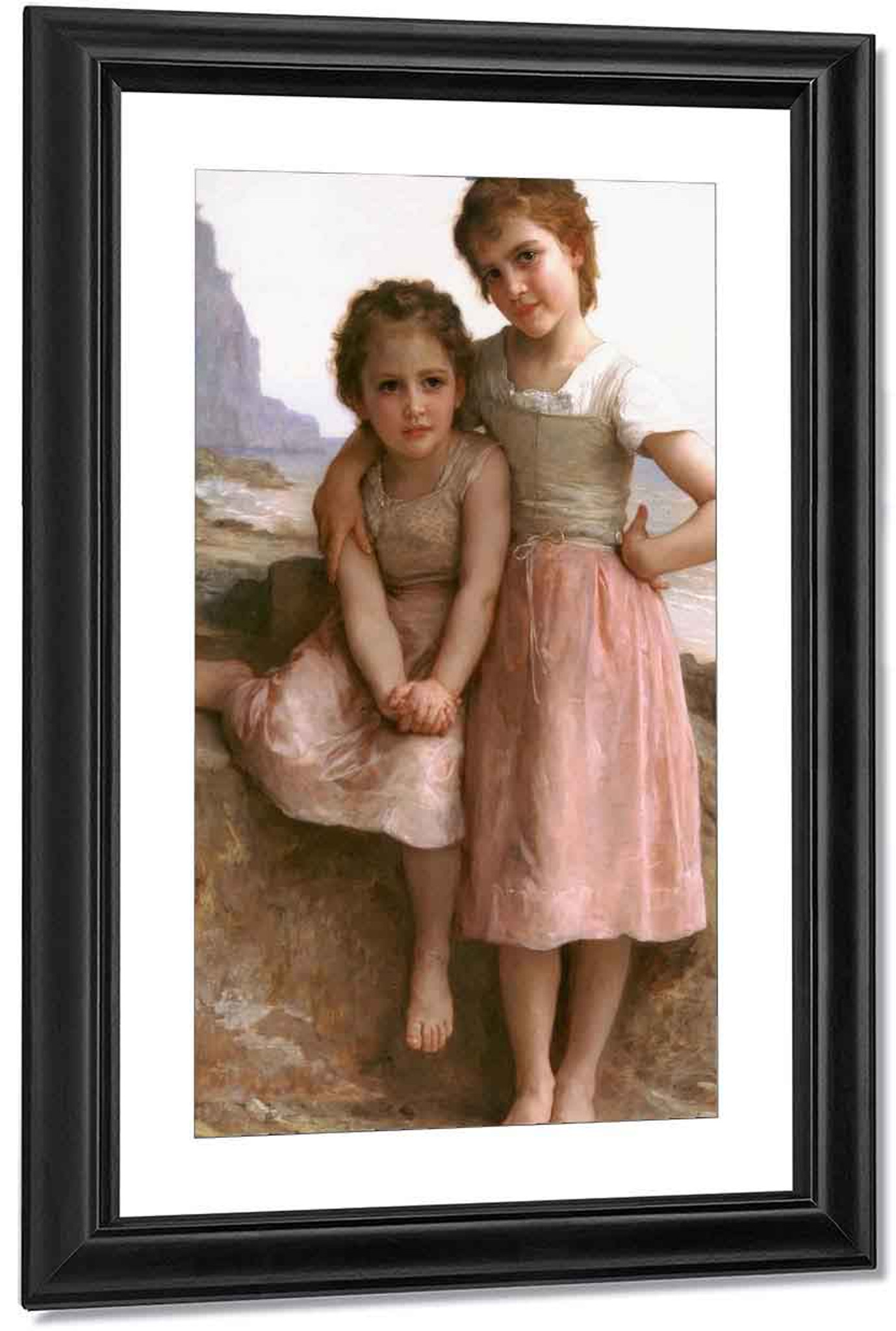 Two Sisters  by William Bouguereau   Giclee Canvas Print Repro