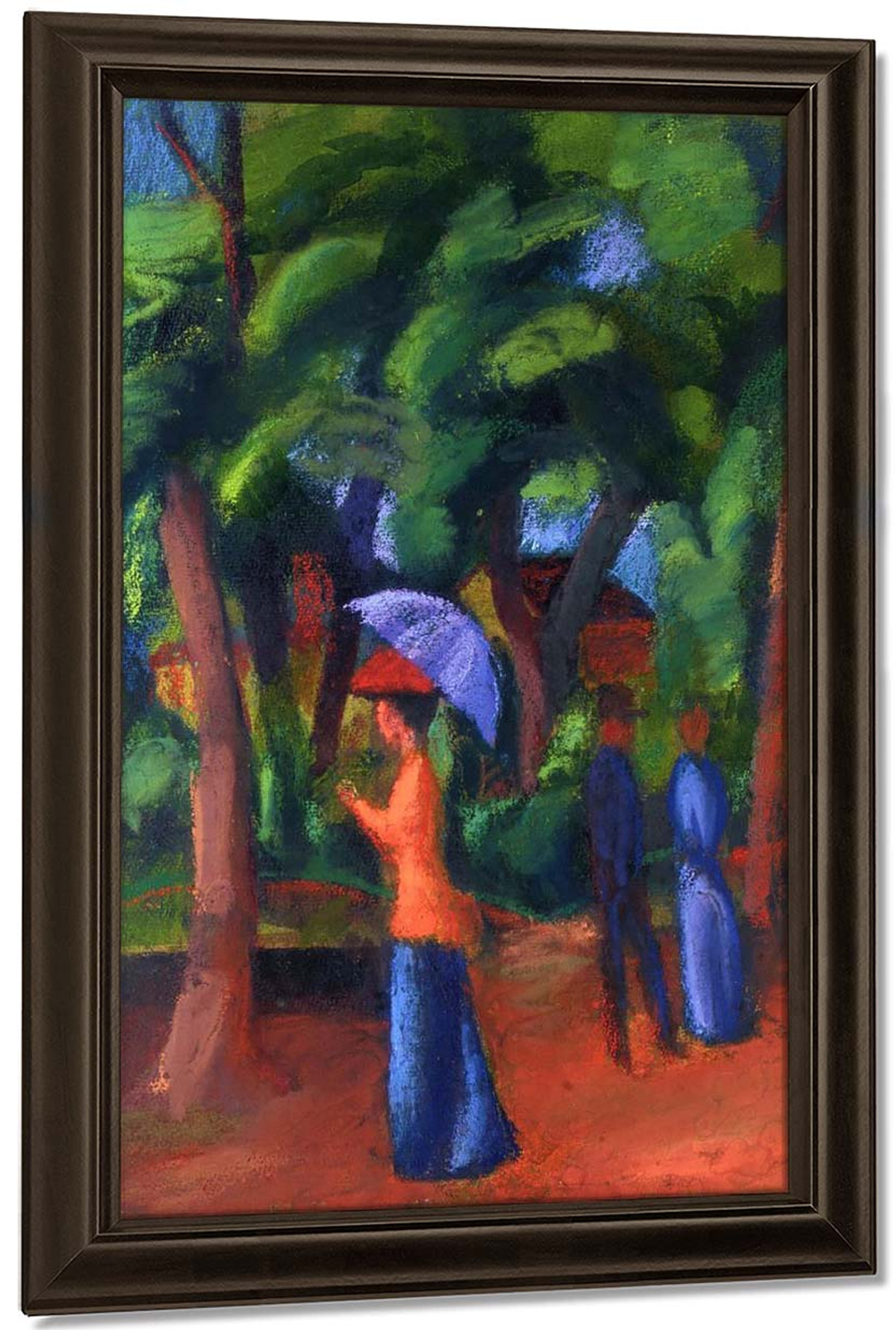 Walking In The Park By August Macke Art Reproduction
