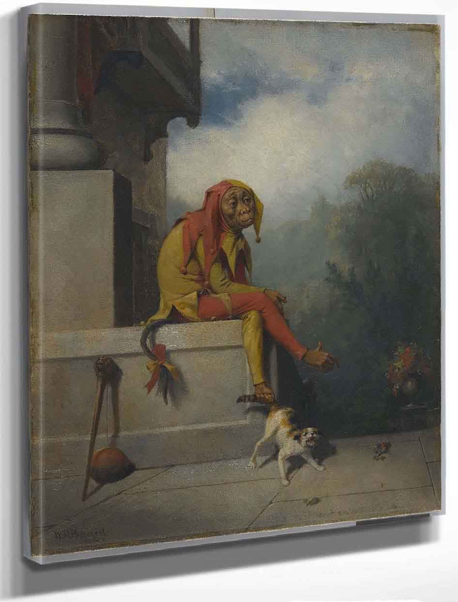 Who is Hunting Who   by William Holbrook Beard  Paper Print Repro