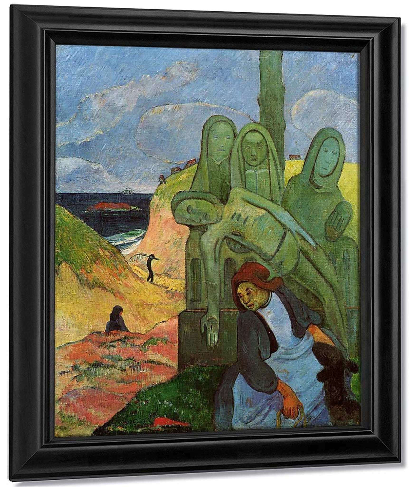 Self Portrait with Yellow Christ by Paul Gauguin Giclee Fine ArtRepro on Canvas