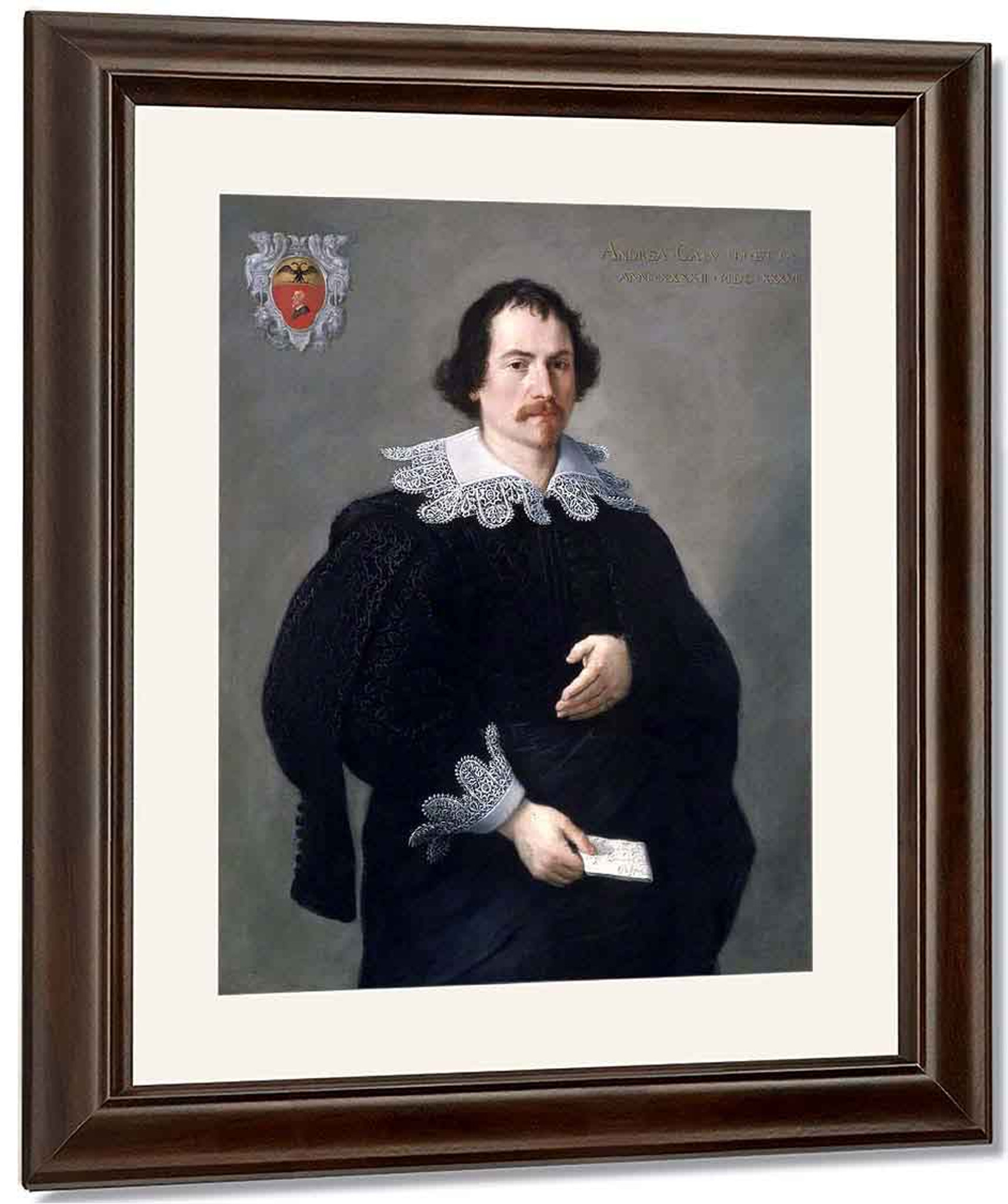 Andrea Albani portrait of andrea calvifrancesco albani