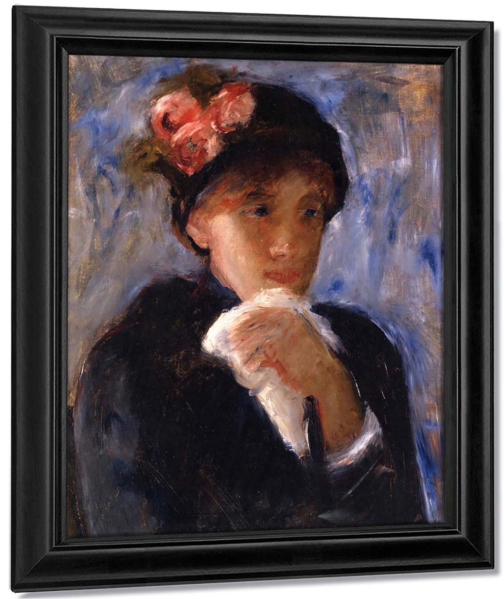 Woman With Handkerchief By Mary Cassatt Reproduction
