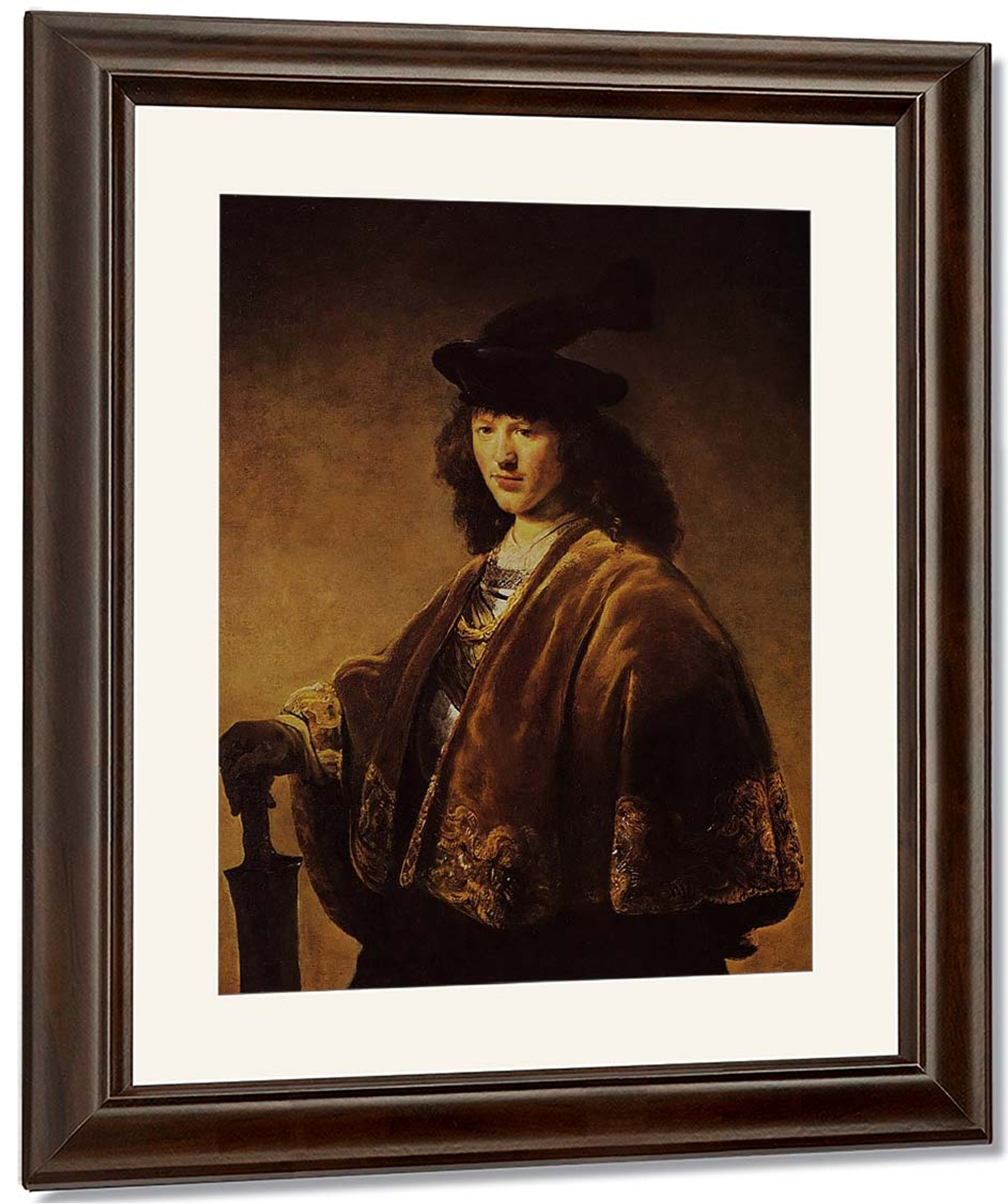 Young Man In A Fantasy Costume By Govaert Flinck