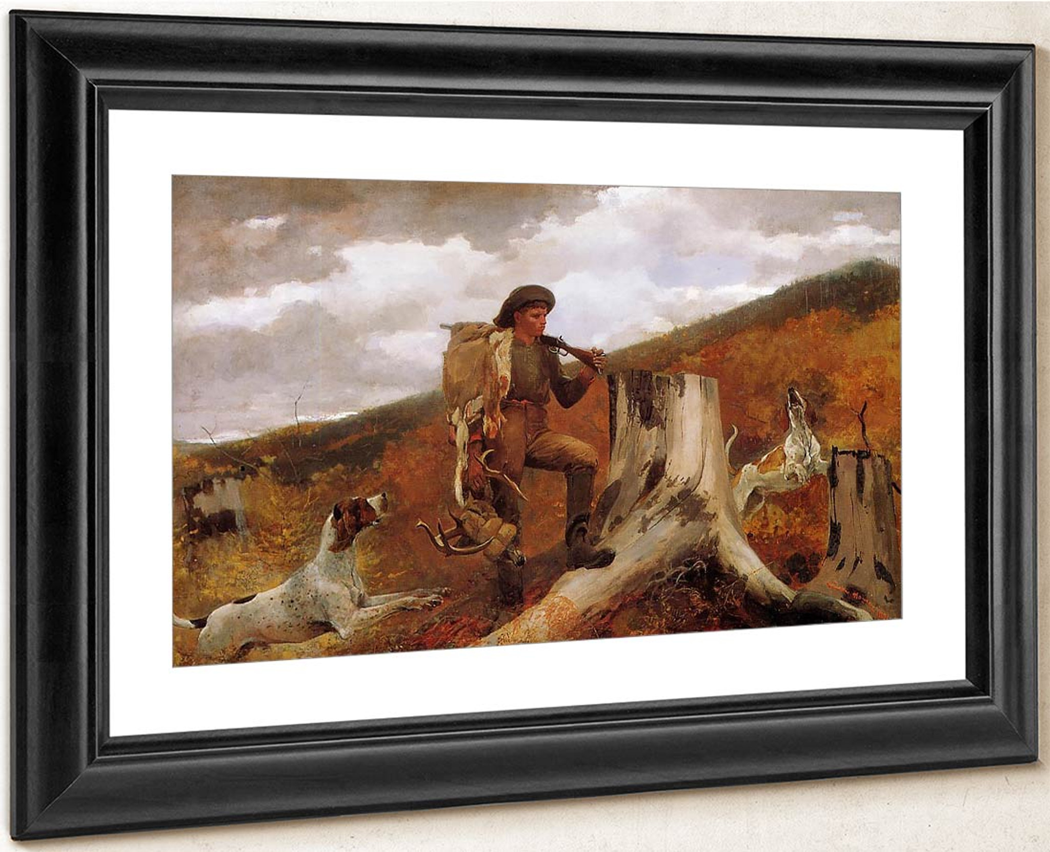 Huntsman and Dogs  by Winslow Homer  Giclee Canvas Print Repro