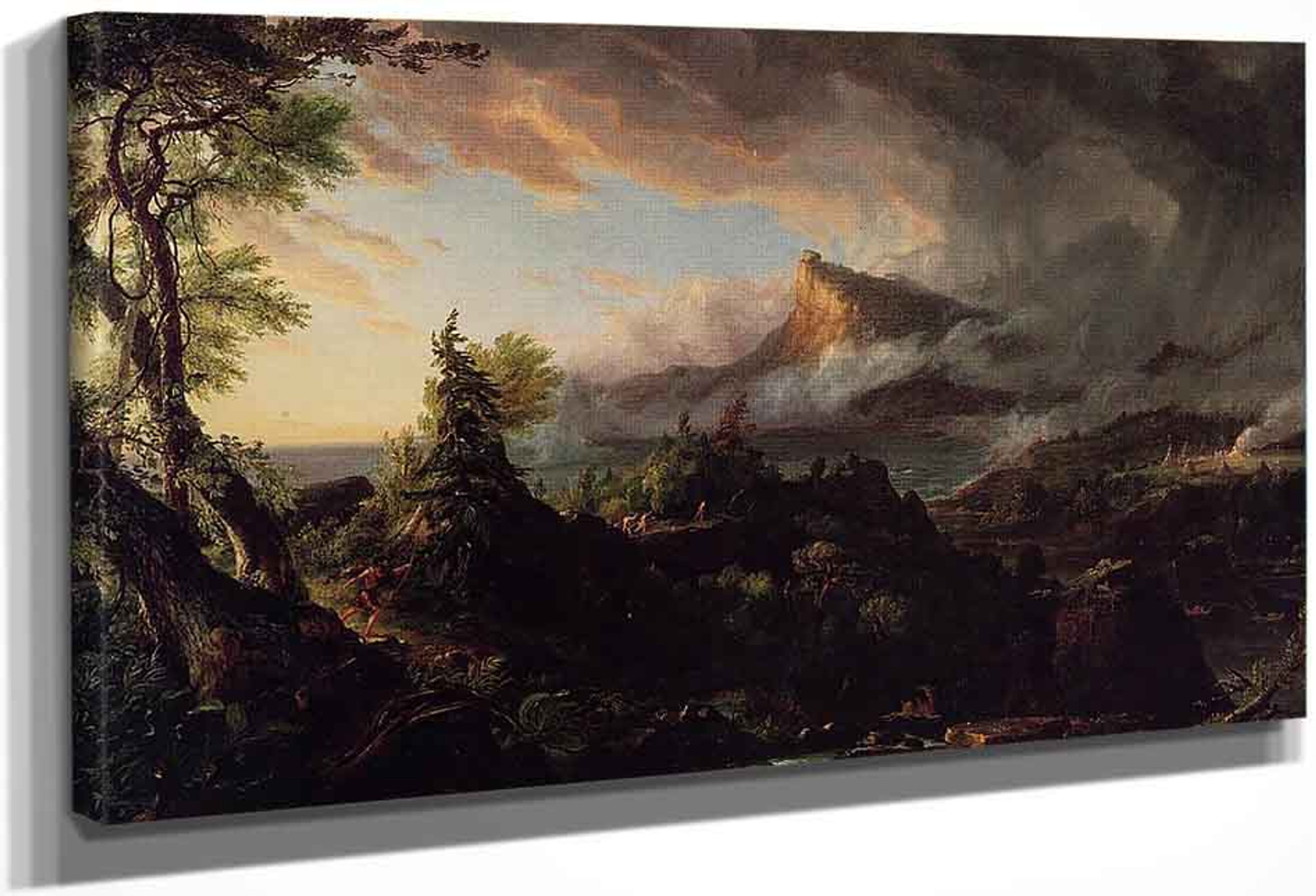 The Course of the Empire Destruction  by Thomas Cole   Giclee Canvas Print Repro