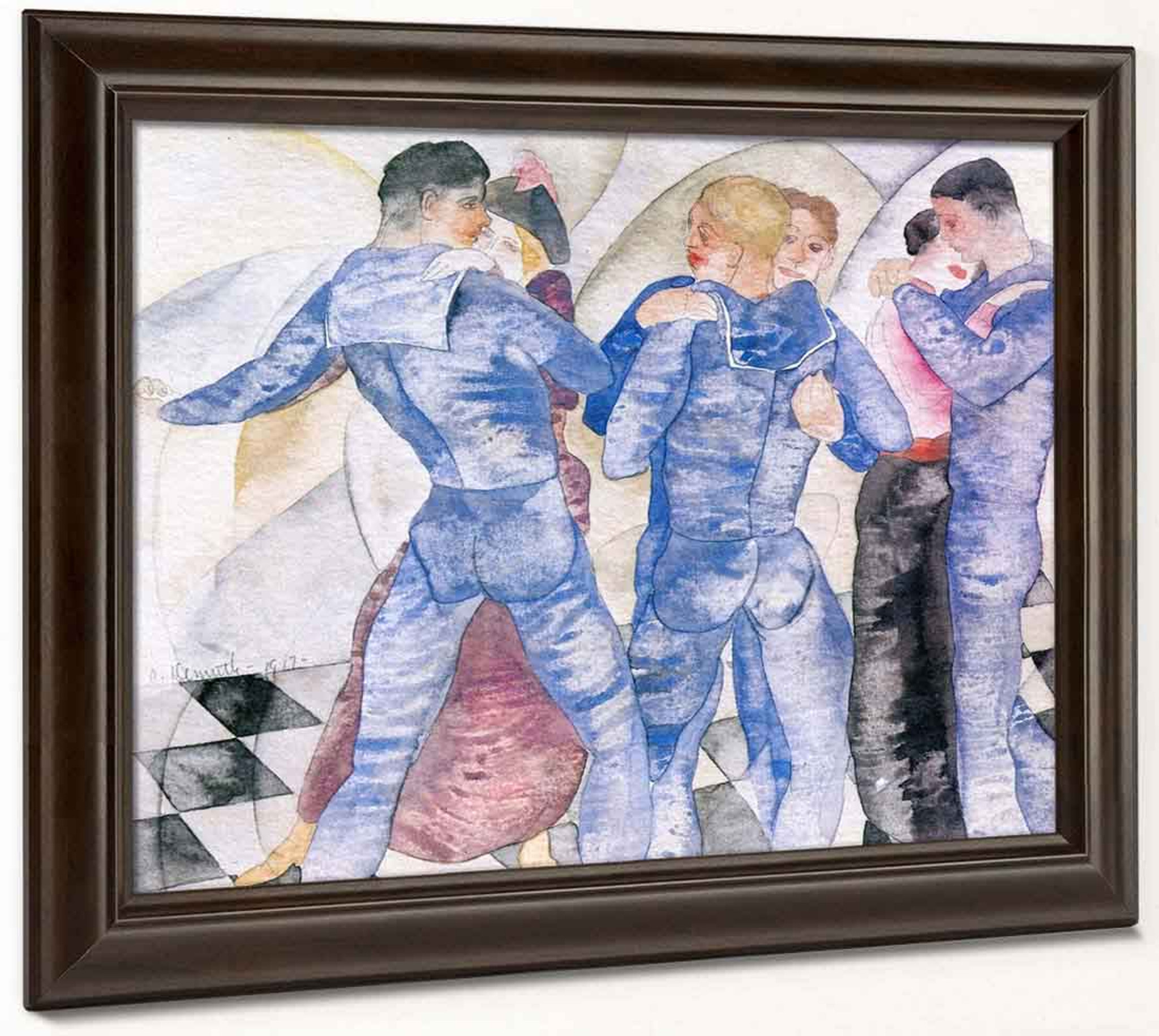 "Pissing Sailors by Charles Demuth   20/"" Paper Print  Repro"