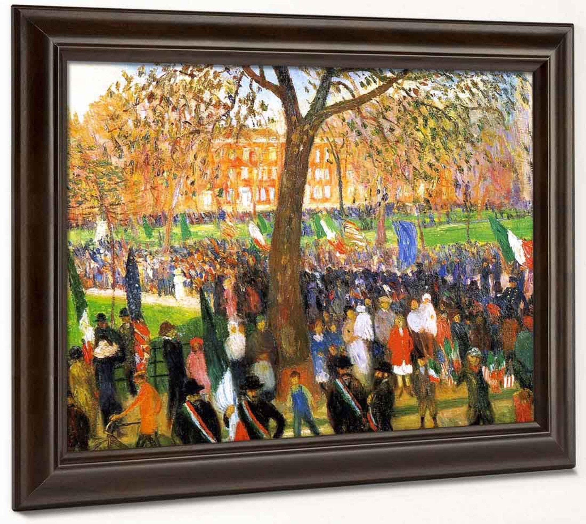 March Day Washington Square   by William Glackens  Giclee Canvas Print Repro