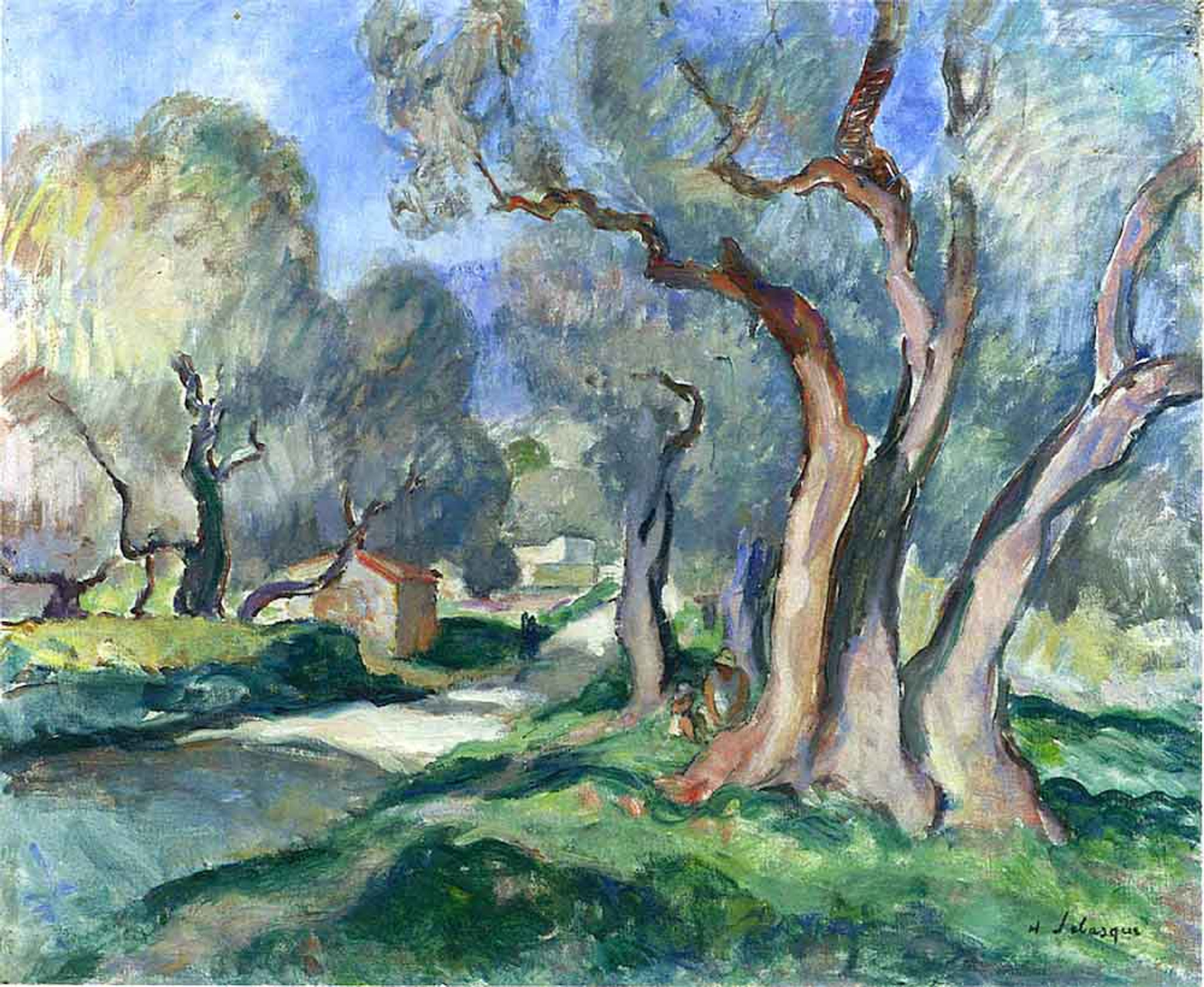 Path Among Olive Trees By Henri Lebasque Print or Painting ...