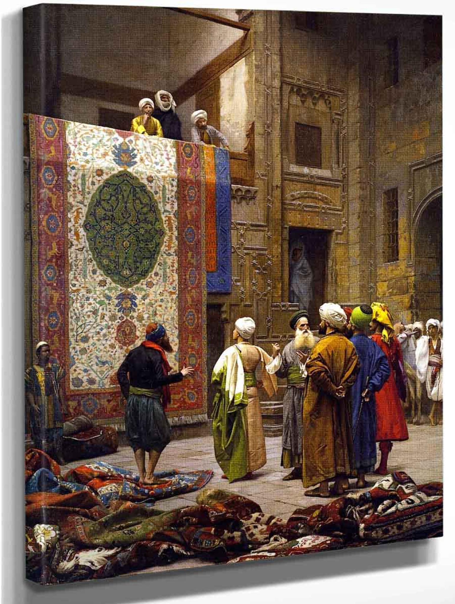 Jean-Léon Gerome Carpet Merchant in Cairo Giclee Canvas Print