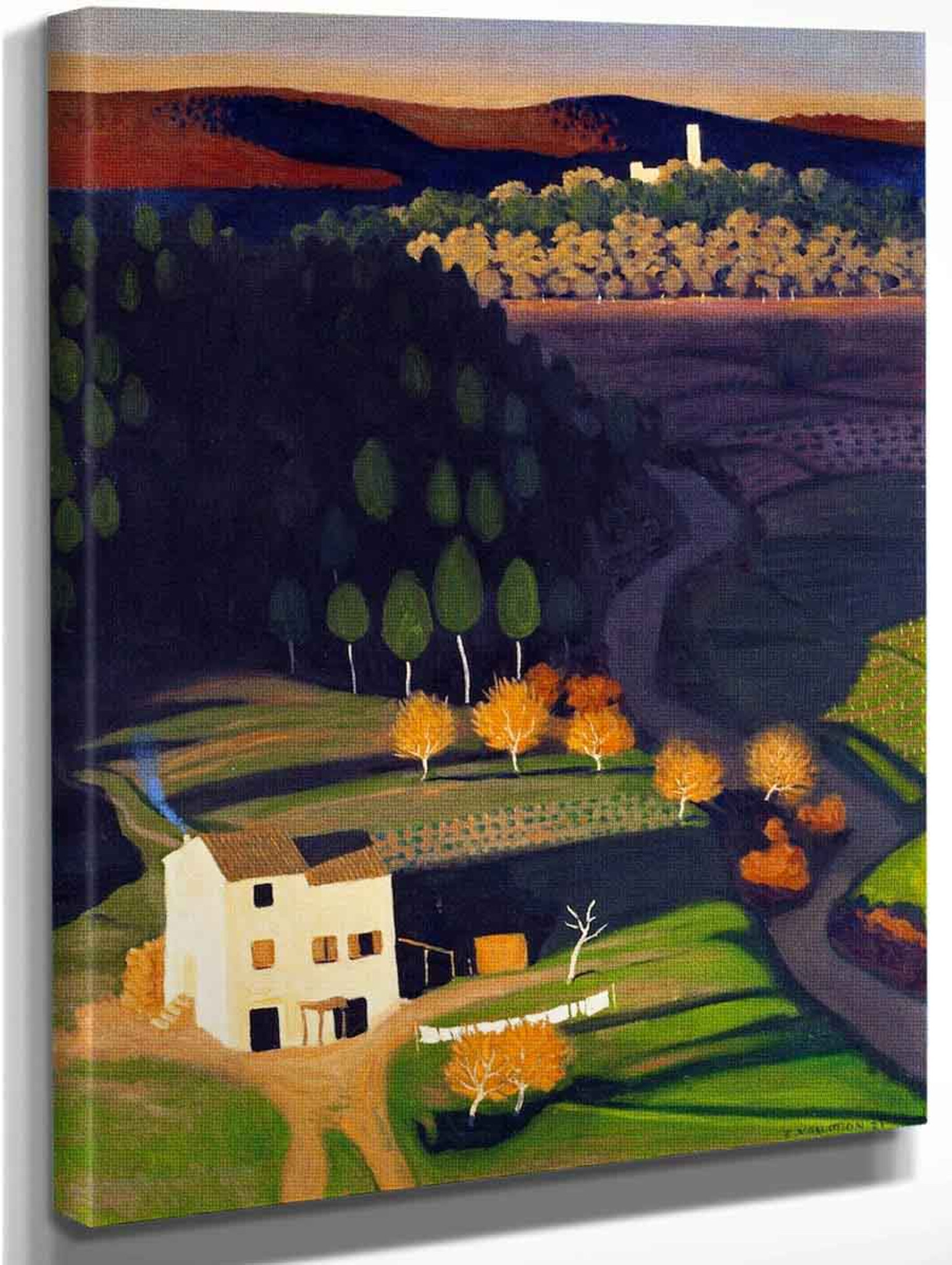 First Rays By Felix Vallotton Oil on Canvas Reproduction