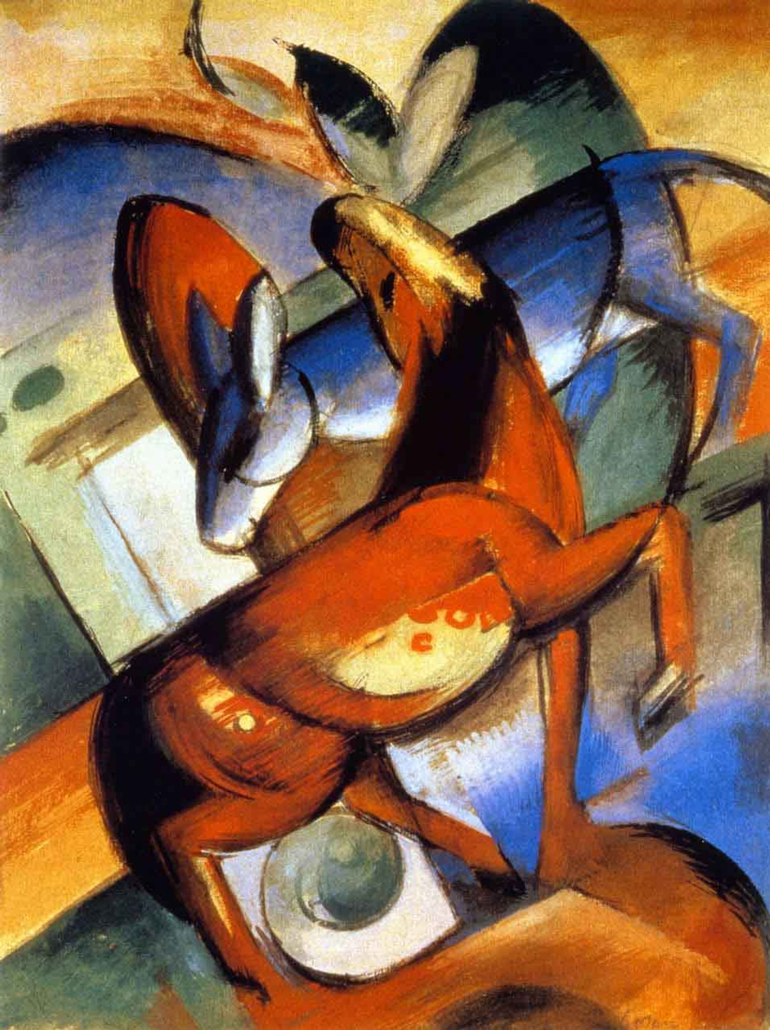 Dreaming Horses  by Franz Marc   Giclee Canvas Print Repro