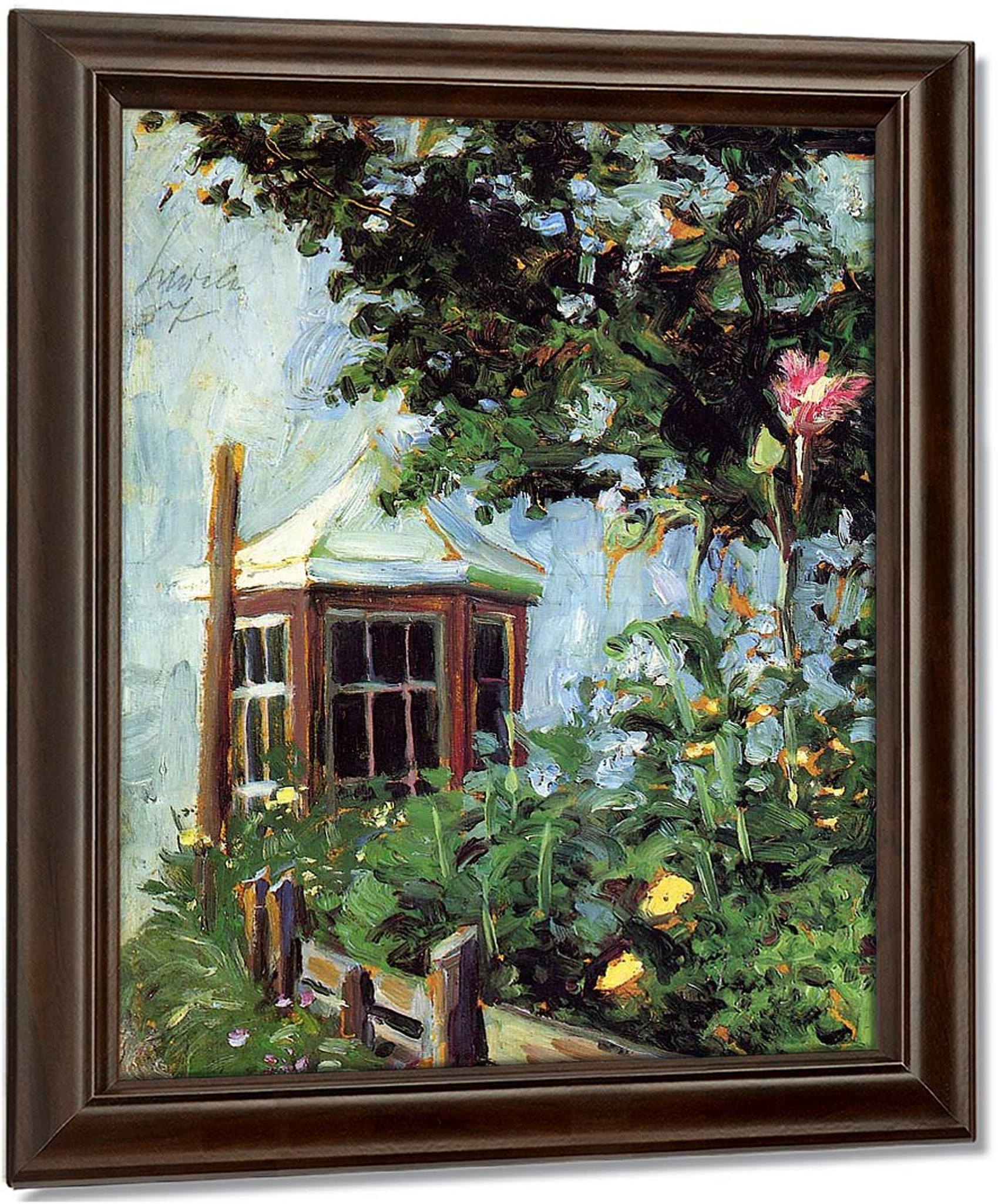 House With A Bay Window In The Garden By Egon Schiele Art
