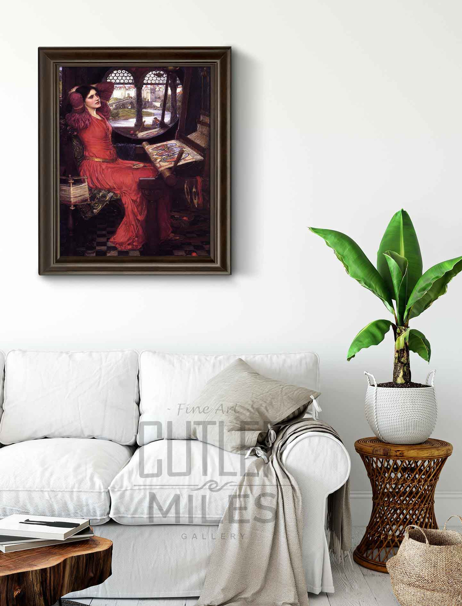John William Waterhouse I am Half Sick of Shadows  Giclee Canvas Print