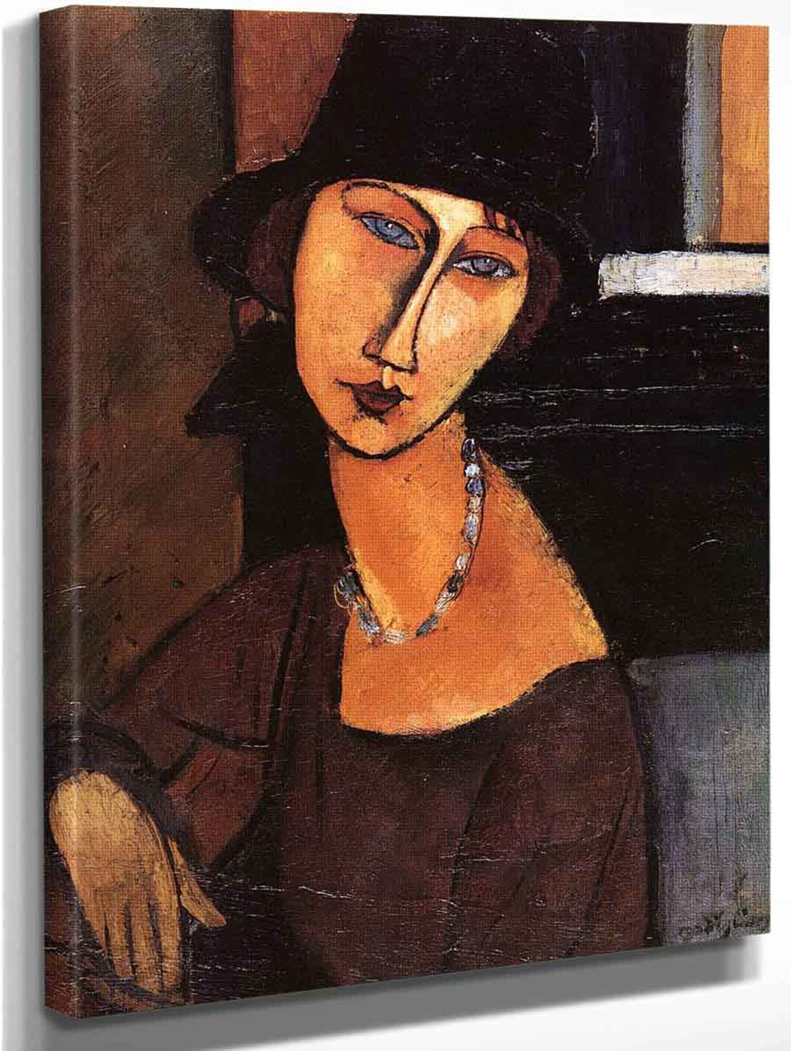 Jeanne Hebuterne   by Amedeo Modigliani   Giclee Canvas Print Repro