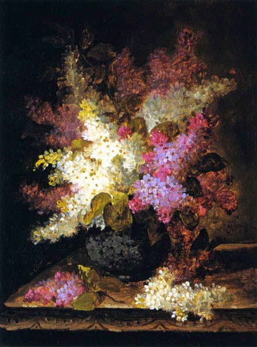 Lilacs1 By Raoul De Longpre By Raoul De Longpre