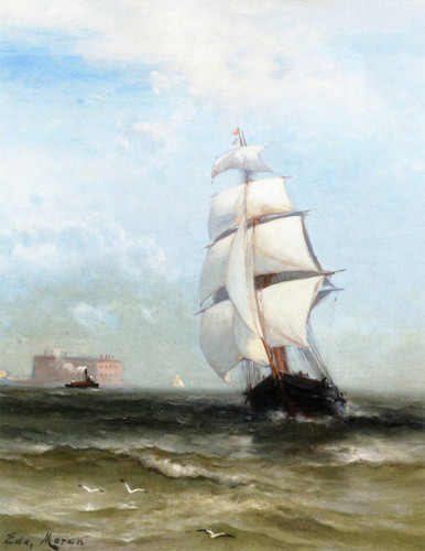 Lower New York Bay By Edward Moran