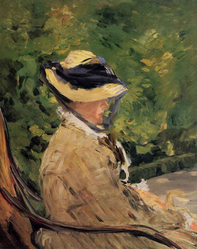 Madame Manet At Bellevue By Edouard Manet By Edouard Manet