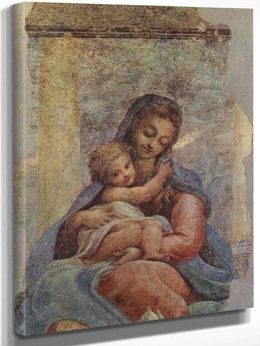 Madonna Della Scala By Correggio By Correggio