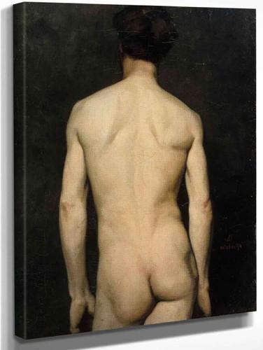 Male Model, Academy Study By Albert Edelfelt
