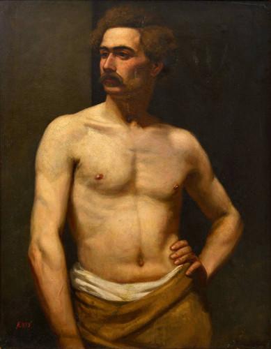 Male Model By Albert Edelfelt